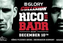 Glory 36/Collision - Fight Card