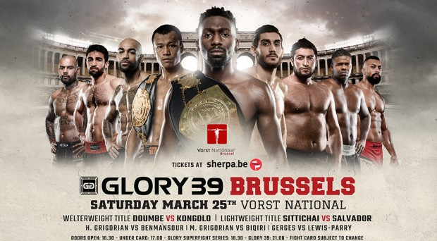Glory 39 - Fight Card