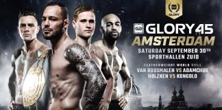 Glory 45 fight card